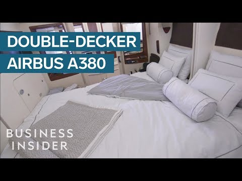 First, Business, And Economy Class On A Double-Decker Airbus A380