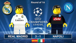Video Real Madrid vs Napoli 3-1 • Champions League 2017 (15/02/2017) goal highlights Lego Football download MP3, 3GP, MP4, WEBM, AVI, FLV Oktober 2018