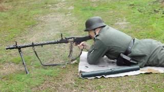 MG 34 BLANK FIRING, MG34 maschinengewehr.
