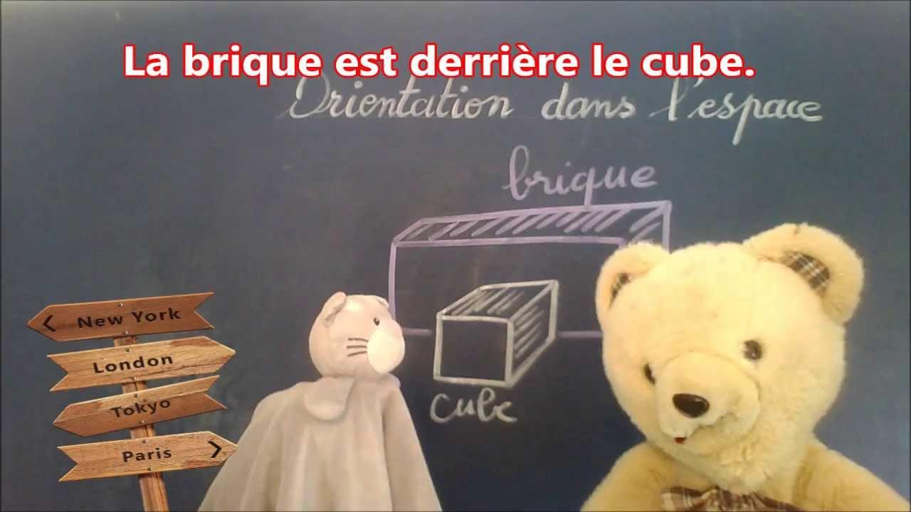 Math cp ce1 ce2 orientation   Exercices mathématiques devant et derrière - YouTube