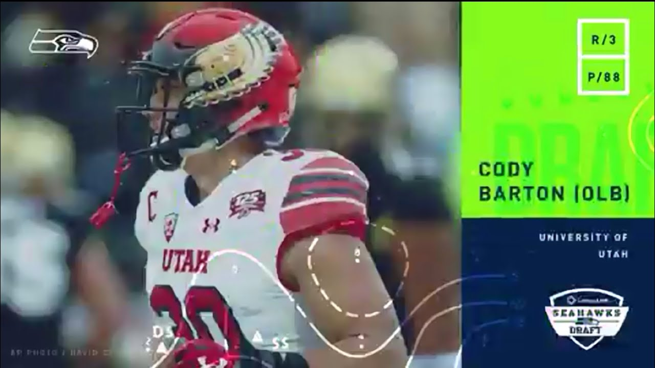 Seahawks draft Utah LB Cody Barton we have 2 Utes now.