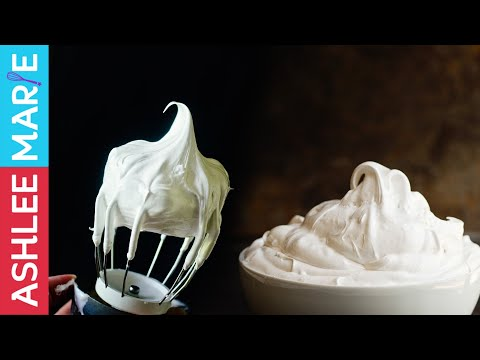 How to make Homemade Marshmallow fluff two ways - aka 7 min frosting, american meringue