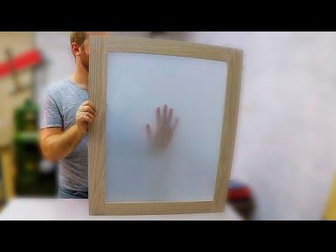 Как затонировать стекло своими руками ! Тонировка окон стекол. Матирование стекла.