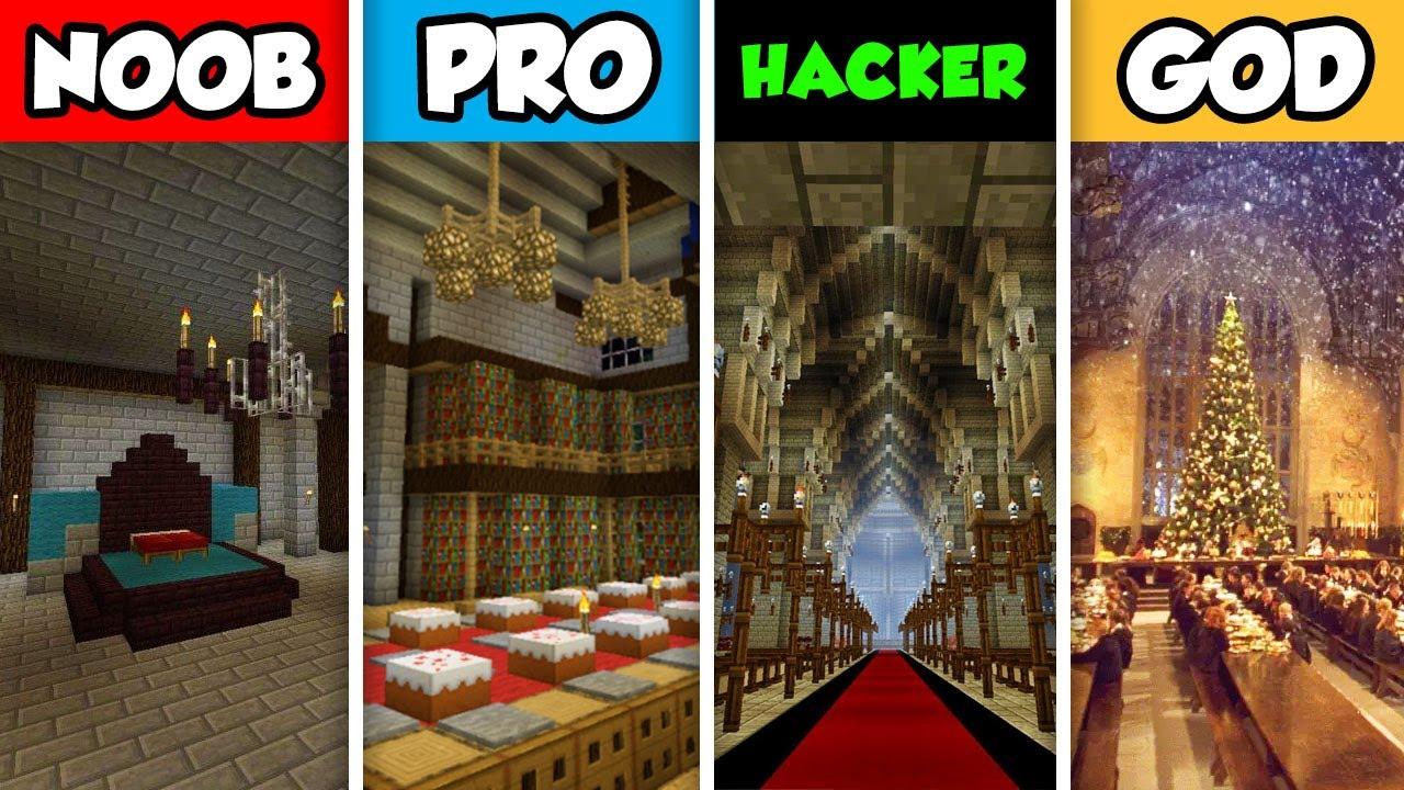Minecraft Noob Vs Pro Vs Hacker Vs God Fantasy Castle Interior
