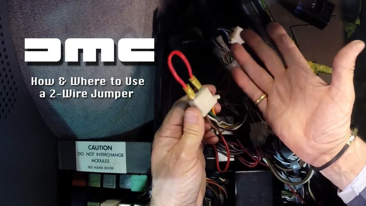 [SODI_2457]   How & where to use a 2-Wire Jumper--DeLorean Motor Company - YouTube | Delorean Starter Wiring Diagram |  | YouTube