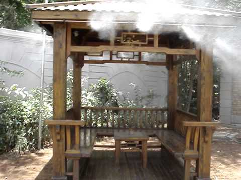 Water Misting Fans Outdoor Cooling Systems Youtube