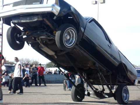 El Camino hopping in Odessa car show