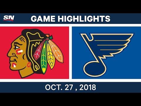 NHL Highlights | Blackhawks vs. Blues - Oct. 27, 2018