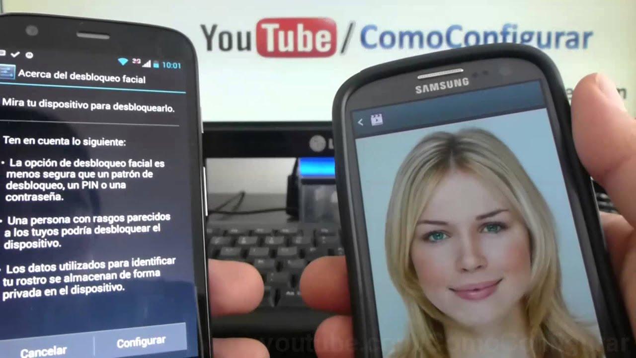 769f0bedfe5 Como Desbloquear tu android con tu rostro Motorola Moto G X T1032 ...