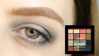 NYX Ultimate Utopia Макияж для серых глаз в холодных тонах Как накрасить глаза