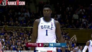 Zion Williamson Duke vs Boston College - Highlights | 2.5.19 | 16 Pts, 17 Rebs, 4 Stls, 3 Blocks!