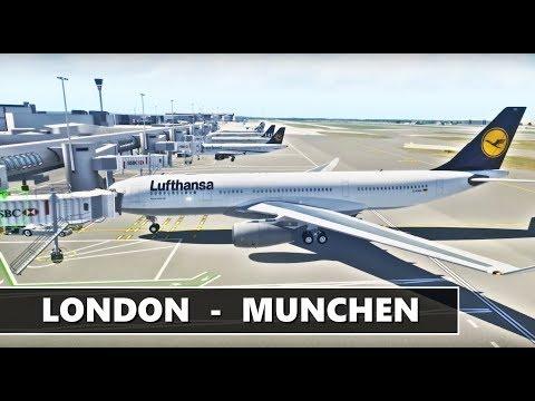 X-PLANE 11 | LONDON (EGLL) - MUNCHEN (EDDM) LUFTHANSA A330 | CHRISTMAS SPECIAL | FULL STREAM LIVE