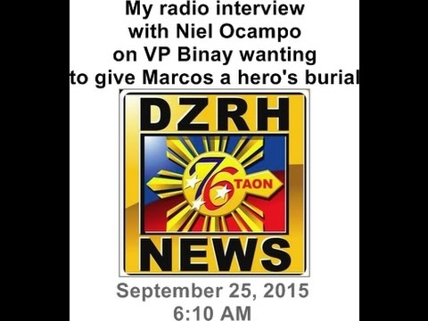 I told DZRH radio why Vice-President Binay owes the Marcoses