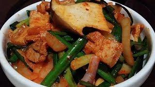 Kimchi Pork Stir-fry | Rice : ASMR / Mukbang ( Cooking & Eating Sounds )