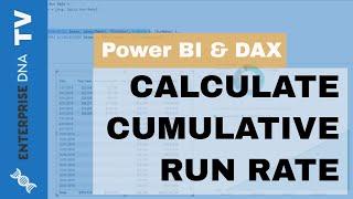 كيفية حساب التراكمي معدل تشغيل في السلطة ثنائية باستخدام DAX