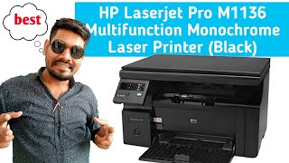 hp laserjet m1136 mfp installation and unboxing