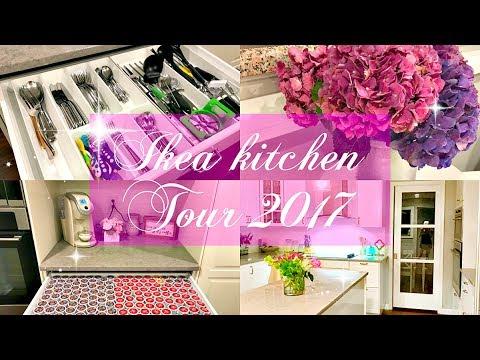 FULL IKEA KITCHEN TOUR 2017 // organization & decor