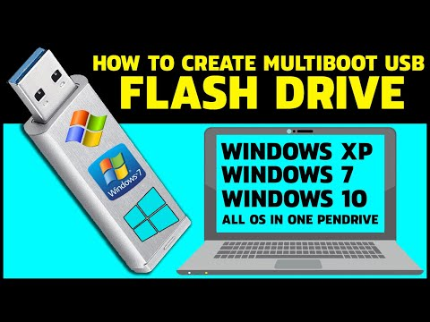 How To Create Multiboot Usb Flash Drive Windows 7 And 10 | Install Any OS Using One Pendrive