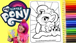 Coloring Pinkie Pie My Little Pony Coloring Book Page Colored Pencil   KiMMi THE CLOWN