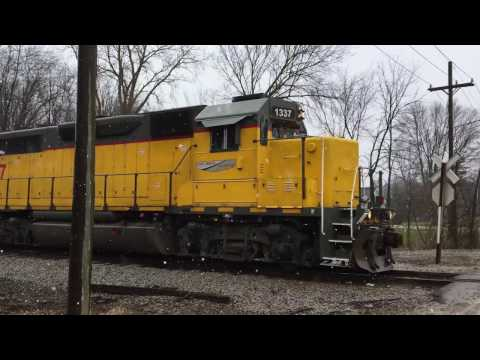 Thumbnail: Rare moves on the Ann Arbor Railroad! Pulling stored railcars