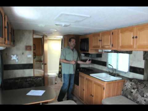 Lite Travel Trailers >> 2008 Keystone Passport 280BH Bunk House Travel Trailer - YouTube