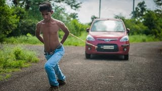 Repeat youtube video Super Strong Teen Pulls Cars With His Shoulder Blades: BORN DIFFERENT