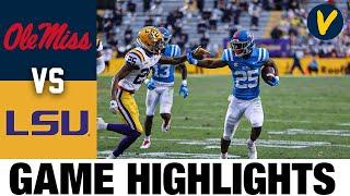 Ole Miss Vs LSU Highlights | Week 16 | 2020 College Football Highlights