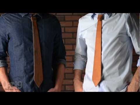 The Wooden Necktie made from reclaimed barn wood
