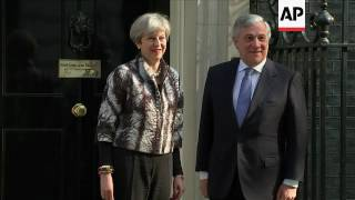 EU President Tajani meets UK PM in London