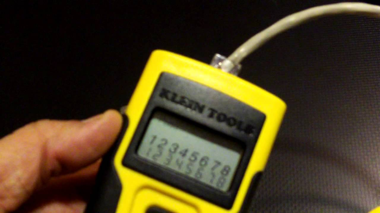 Data Cable Tester : Klein and s cat data cable testers youtube
