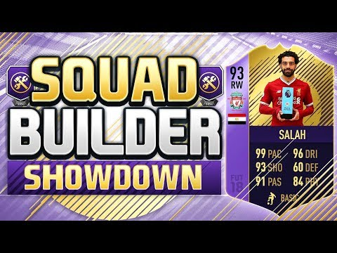 FIFA 18 SQUAD BUILDER SHOWDOWN!!! THE FIRST CARD WITH 99 PACE!!! 3rd POTM Salah