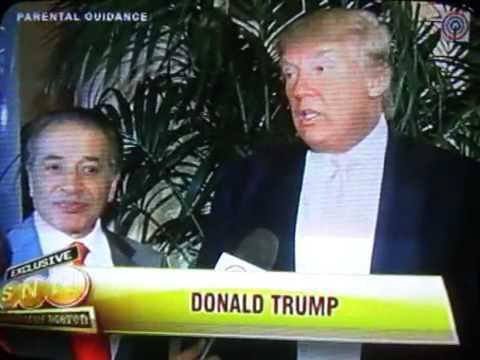 Donald Trump for Miss Philippines' Venus Raj