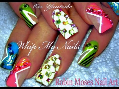 Whip My Nails | Geometric Abstract DIVA Nail Art Design Tutorial