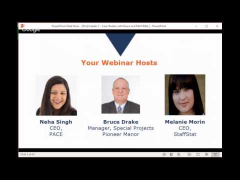 Productivity Leader Webinar:  Case Study with Bruce Drake, Pioneer Manor