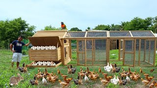 Hundreds of CHICKENS build with a new BREEDING COOP! FEEDING CHICKENS & 100+ Bunnies ( FARM TOUR)