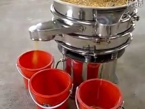 Pure stainless steel rotary vibrating sieve test before delivery