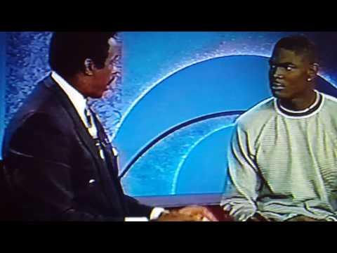 Jim Hill interviews Keyshawn Johnson after 1996 Fiesta Bowl