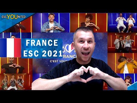 France Eurovision 2021 - C'est Vous Qui Décidez | REACTION & Top 12