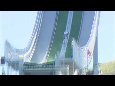 Nick Fairall - Ski Jumping Crash, PyeongChang 09