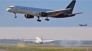 FRANKFURT Airport Planespotting 2019 with Titan Airways and Qatar Airways A380 GO AROUND