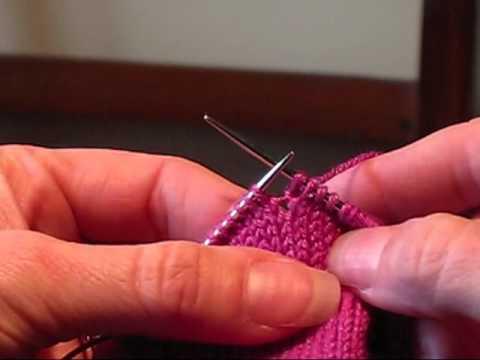 Make M1 Knitting Stitches : Make 1 Stitch (M1) - YouTube