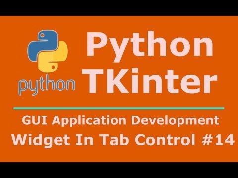 14 Python Tkinter Adding Widget To Tab Control