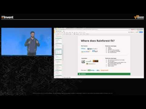 AWS re:Invent 2015 | (ISM318) Measuring Software Quality w/ Rainforest QA & Mechanical Turk