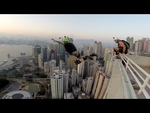 BASE JUMPING OFF A 500FT BUILDING IN HONG KONG