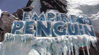 FULL Antarctica Empire of the Penguin ride through with pre-show, queue, habitat at SeaWorld Orlando