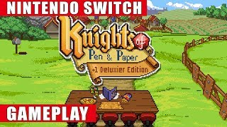 Knights of Pen and Paper +1 Deluxier Edition Nintendo Switch Gameplay