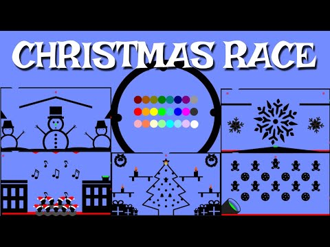 24 Marble Race EP. 10: Christmas Race