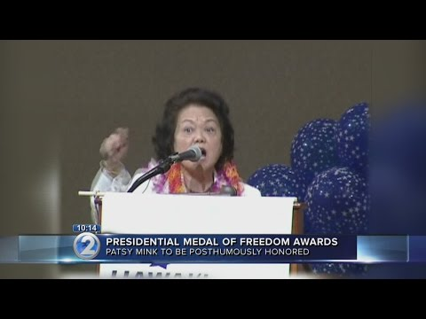 Patsy Mink to receive posthumous Presidential medal