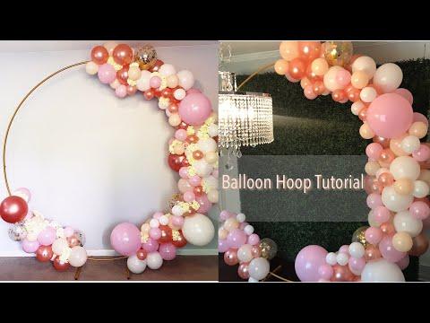 Floral Ballon Garland Hoop Tutorial Part 1