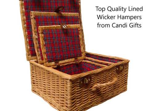 Top Quality Lined Wicker Hampers - www.candigifts.co.uk